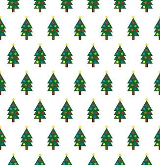 Fundo de árvores de natal para embrulho de presente