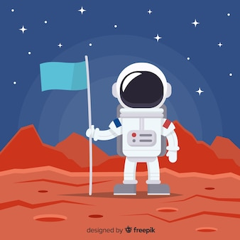 Fundo de astronauta no espaço