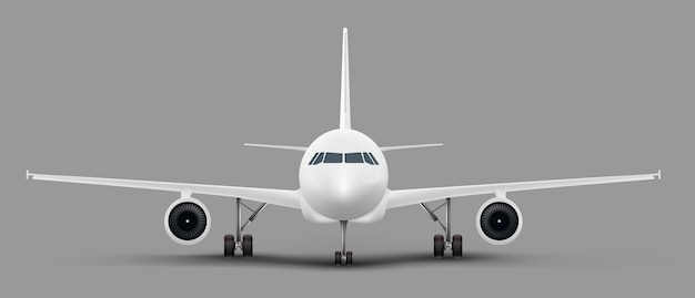 Fundo de avião isolado