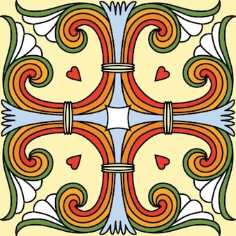 Fundo de azulejo ornamental sem emenda bonito do vetor.