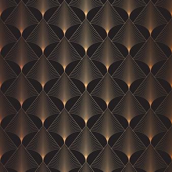Fundo de azulejos sem costura com padrão de estilo art déco