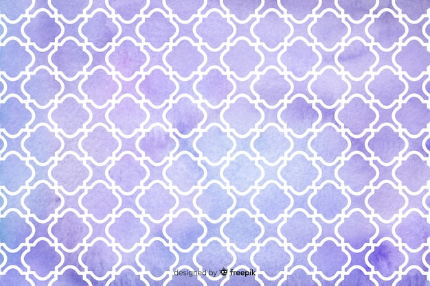 Fundo de azulejos violeta mosaico aquarela