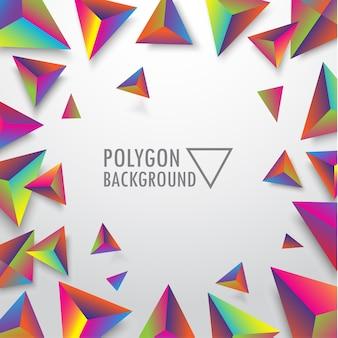 Fundo de baixo polígono triângulo vibrante.