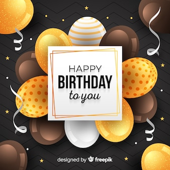 Fundo de balão de aniversário