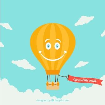 Fundo de balão de ar quente