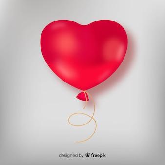 Fundo de balão de coração realista