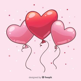 Fundo de balão de coração