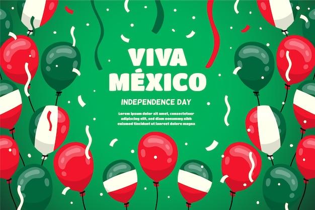 Fundo de balão do dia da independência do méxico