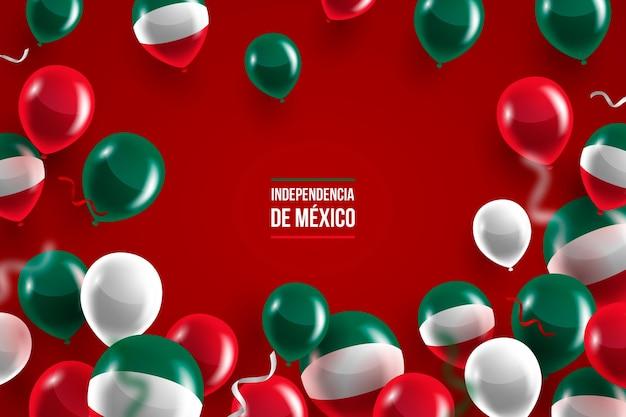 Fundo de balão do dia da independência mexicana