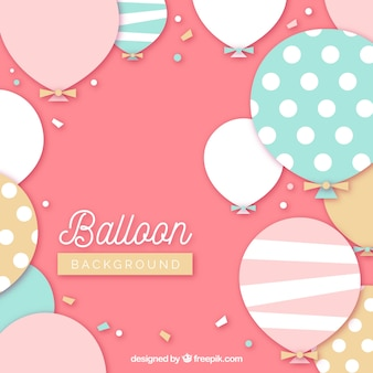 Fundo de balões coloridos para celebrar