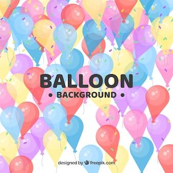 Fundo de balões coloridos