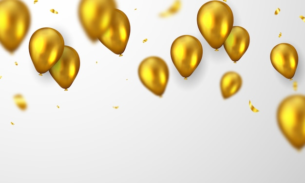 Fundo de balões de ouro.