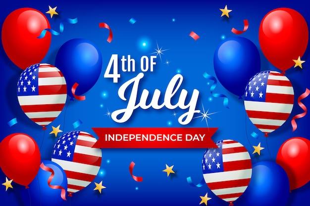 Fundo de balões do dia da independência