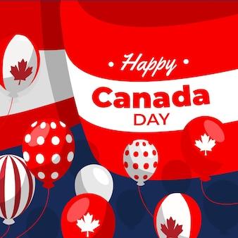 Fundo de balões do dia do canadá
