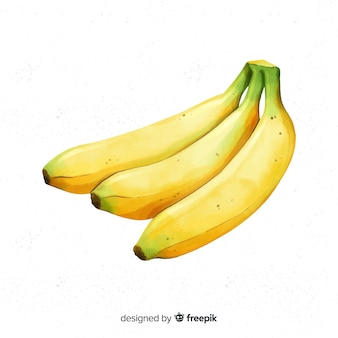Fundo de banana aquarela