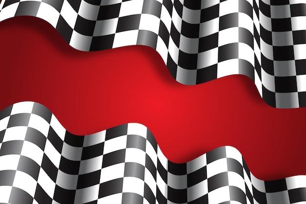 Fundo de bandeira de corrida realista