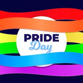 Fundo de bandeira do dia do orgulho