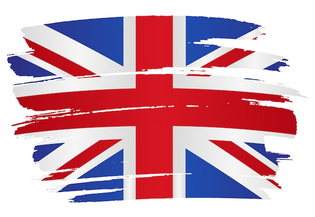 Fundo de bandeira do reino unido grunge
