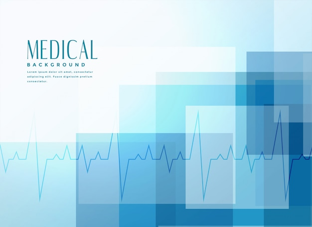 Fundo de bandeira médica de saúde azul