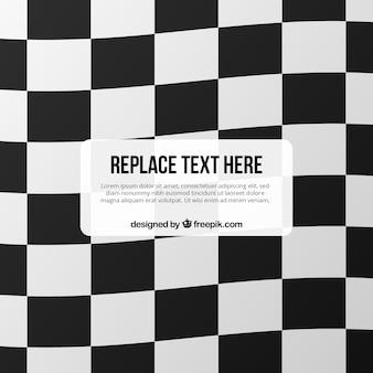 Fundo de bandeira quadriculada com espaço para texto