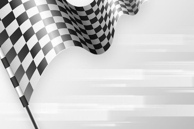 Fundo de bandeira quadriculada de corrida plana