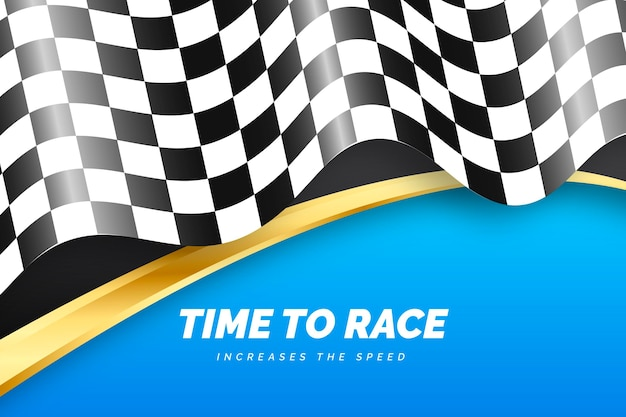 Fundo de bandeira quadriculada de corrida realista
