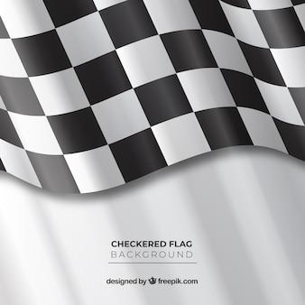 Fundo de bandeira quadriculada ondulada