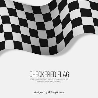 Fundo de bandeira quadriculada