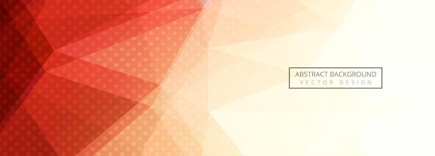 Fundo de banner abstrato colorido polígono