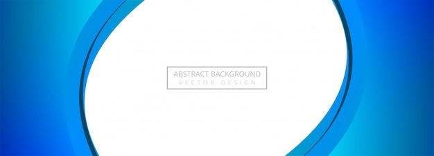 Fundo de banner abstrato criativo onda azul