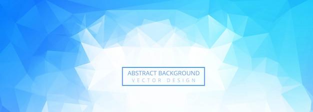Fundo de banner abstrato polígono azul