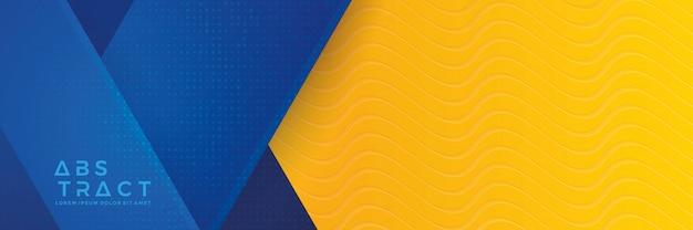 Fundo de banner azul e laranja
