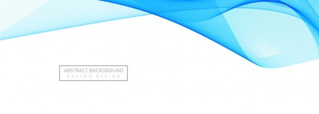 Fundo de banner criativo elegante onda azul