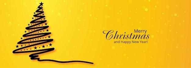 Fundo de banner de árvore de feriado de natal