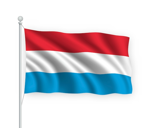 Fundo de banner de eleição de voto de luxemburgo. urna eleitoral com bandeira desfocada