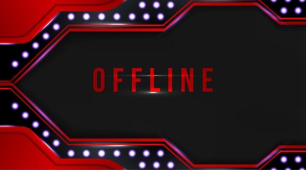 Fundo de banner de streaming de torção de mídia offline