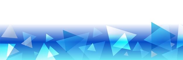 Fundo de banner de tecnologia abstrato de tecnologia web futurista de tecnologia azul com triângulos brancos azuis