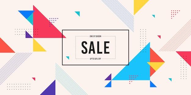 Fundo de banner de venda de memphis