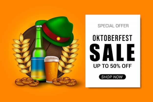 Fundo de banner de venda oktoberfest