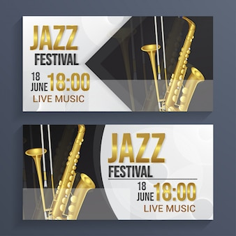 Fundo de banner do festival de jazz