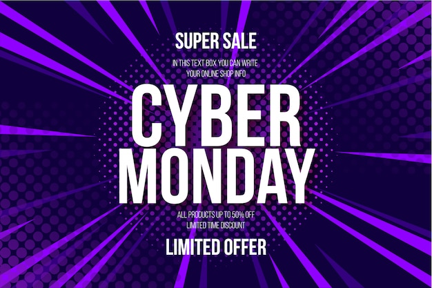 Fundo de banner moderno cyber segunda-feira