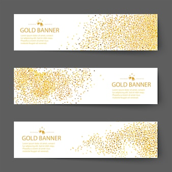 Fundo de banner vector de ouro