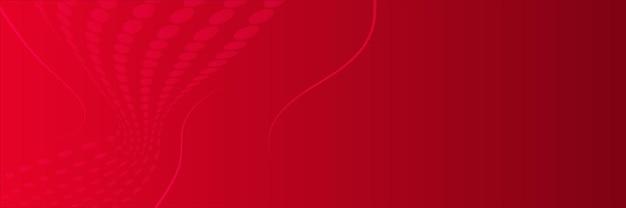 Fundo de banner vermelho abstrato com camada de sobreposição 3d e formas de onda