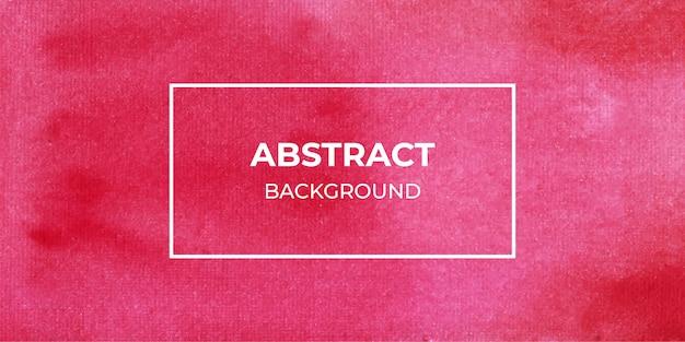 Fundo de banner vermelho aquarela abstrata web