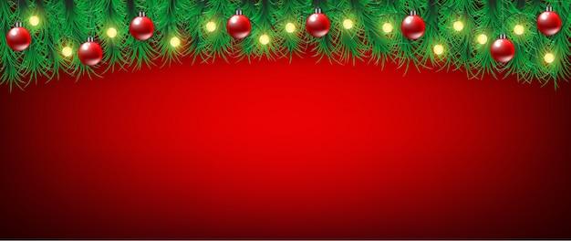 Fundo de banner vermelho de natal