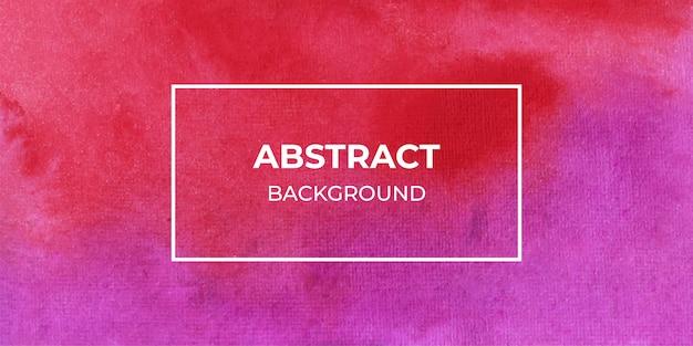 Fundo de banner violeta e vermelho aquarela web
