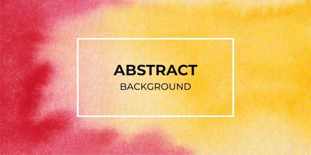 Fundo de banner web aquarela abstrata vermelho e amarelo