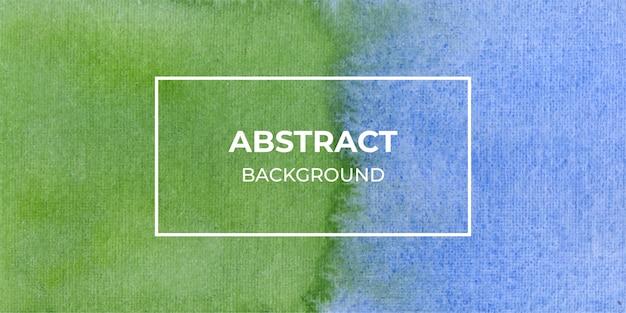 Fundo de banner web aquarela azul e verde