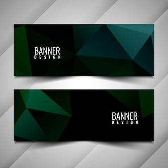 Fundo de banners modernos e geométricos elegantes