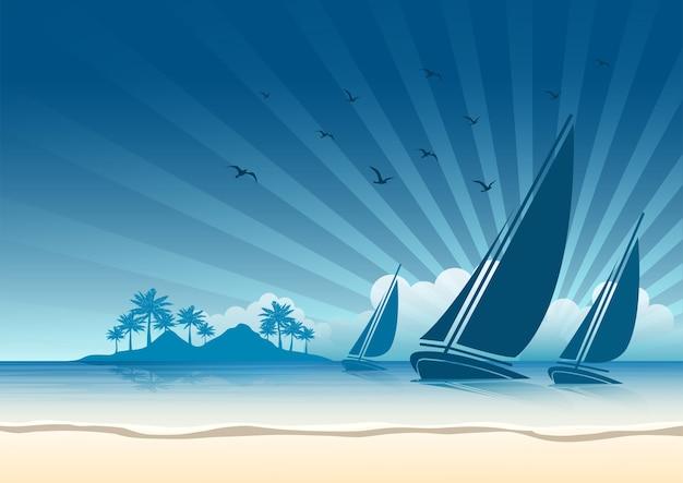 Fundo de barco à vela